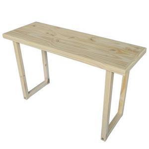 Mesa escritorio madera pino pc moderno pie recto 125x45