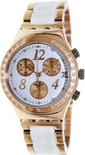 Reloj mujer swatch dreamwhite rose con piedras