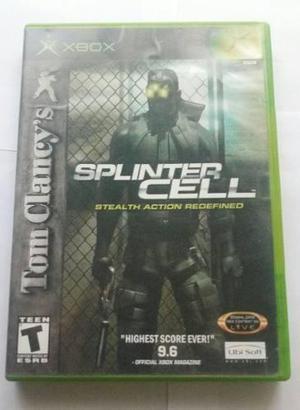 Splinter cell 1 xbox 1 original ntsc + caja y manual!