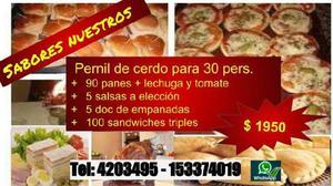 1950 promo pernil empanadas sandwiches de miga