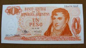 Billete de 1 peso argentina 1973