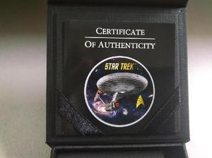 Moneda de plata star trek 50 aniversario enterprise