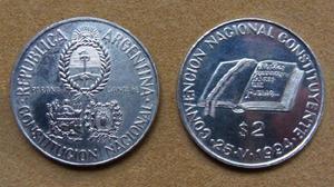 Moneda de 2 pesos argentina 1994