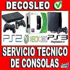 Servicio tecnico profesional de consolas ps2 ps3 ps4 xbox