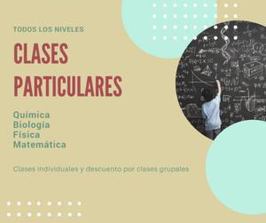 CLASES PARTICULARES todos los niveles