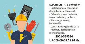 Electricista a domicilio, urgencias las 24 hs. los 365 dias