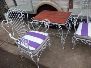 Juego sillones hierro forjado anuncios febrero clasf Almohadones exterior