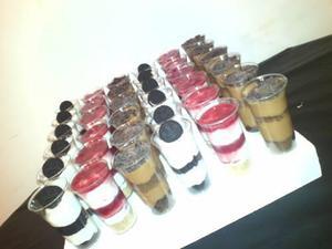 Shots dulces tortas toc toc postres en vasitos precio x doce