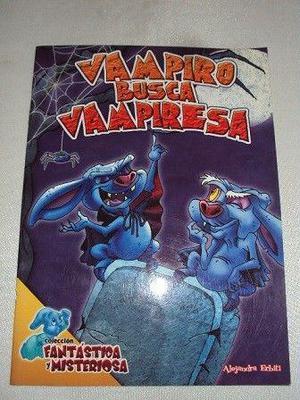 Libro infantil de cuento y juegos: vampiro busca vampiresa