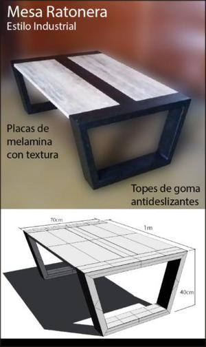 Mesa ratonera. diseño exclusivo