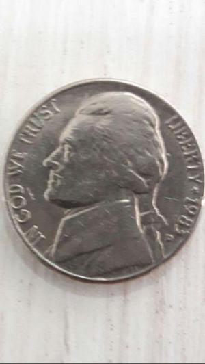 Moneda dolar estados unidos de 5 centavos five cents