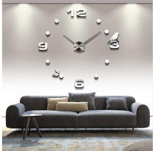 Reloj gigante de pared realmente grandes efecto 3d.