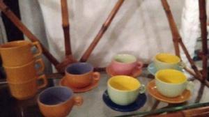 Vendo tazas de café cerámica colores