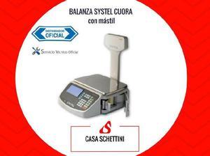 Balanza systel cuora mástil 30kg etiquetas código de barra