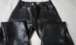 Pantalon nena simil cuero talle 10