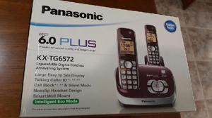 Telefono duo inalambrico c/contestador panasonic kxtg6572