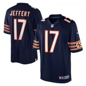 Camiseta nike chicago bears nfl jeffery 17 talle xl on field 983a13f5ac9