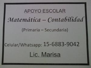 Clases particulares de matemática y contabilidad (nivel
