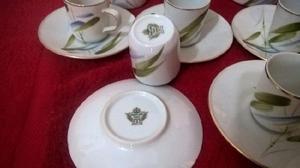 Juego de café tsuji porcelana para 6 servicios