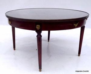 Mesa ratona luis xvi con broncerie
