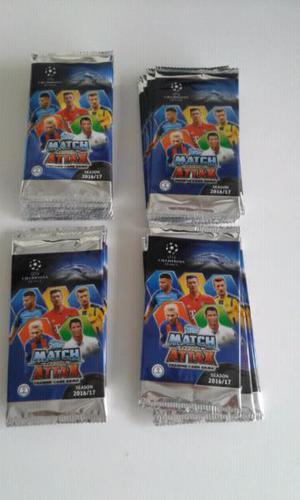 Vendo lote de 50 sobres de tarjetas de la champions league