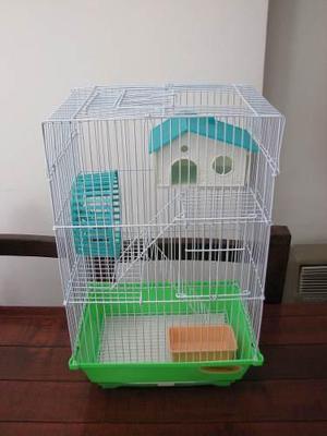 Jaula hamster hamstera 3 pisos!!!