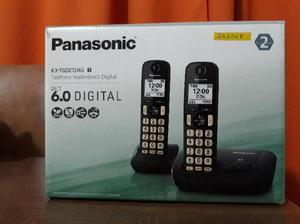Teléfono inalámbrico digital panasonic doble base