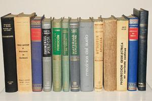 Libros de ingenieria civil, geologia, mineria y agronomia,