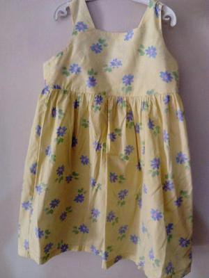 Color Para Flores Amarillo Vestido Niña Con Celestes Mimo hQsrtdC