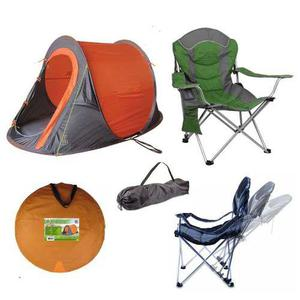 Carpa autoarmable automatica + sillon camping reclinable