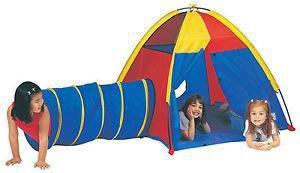 Z kit carpa + tunel pelotero infantil autoarmable kids fun
