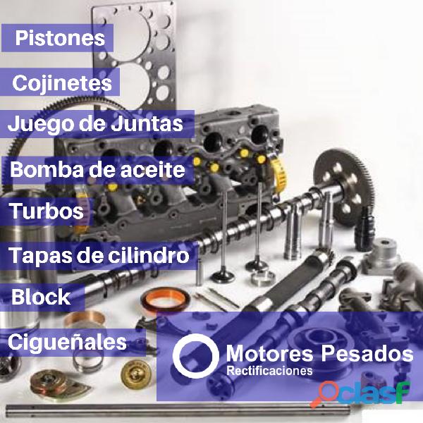 Repuestos para motor: pistones, juntas, válvulas, etc.
