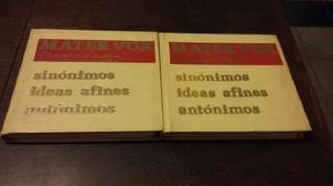 Diccionario de sinónimos, antonimos e ideas afines.