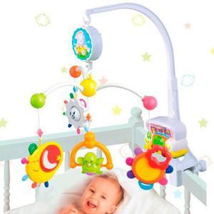 Movil musical cunero luz juguetes sonajeros cuna practicuna
