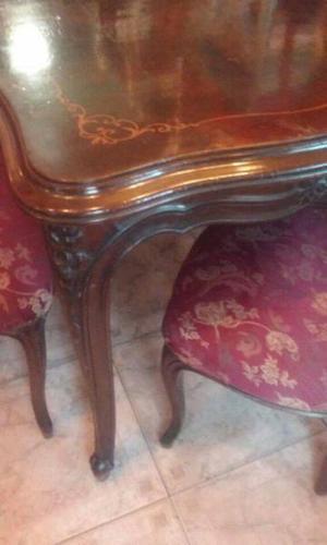 Vendo mesa sola o con 4 sillas de estilo provenzal