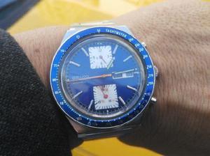 Seiko cronografo automatico 6138 kakume original 43mm acero