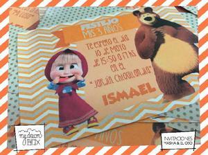 Souvenir Tarjetas Invitacion Masha Ofertas Enero Clasf