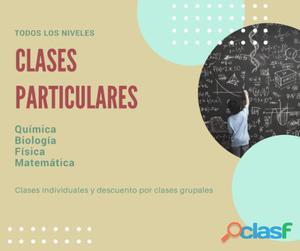 Clases particulares quimica, biología, fisica, matematicas