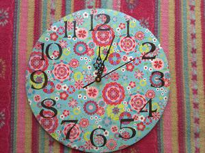 Reloj de pared (falso cuero, vintage, decoupage, etc)