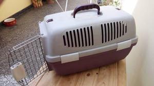 Jaula transportadora caja perros gatos hasta 5 kg