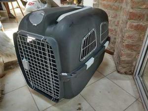 Jaula transportadora canil perro grande ruedas para avion