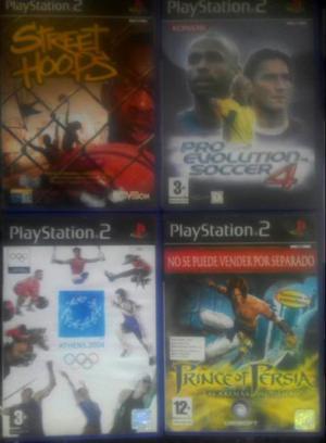 Lote 4 juegos ps2 originales