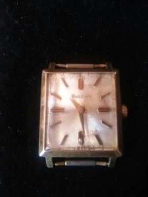 Reloj bulova vintage a cuerda enchapado oro $3.500