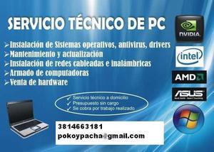 Servicio tecnico pc a domicilio redes wifi internet