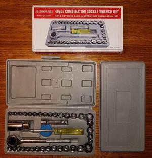 Set de herramientas juego llave tubo kit 40 piezas