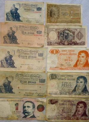 Vendo billetes antiguos argentino