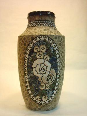 Antiguo Jarron Amphora Art Deco, De Colección
