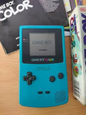 Consola game boy color + juego mario golf