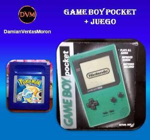 Game boy pocket + juego - impecable