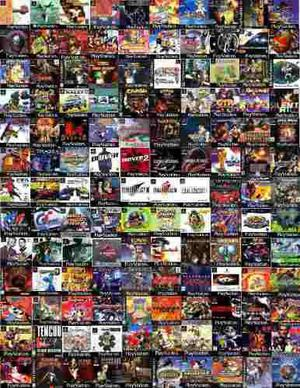 200 juegos individuales en sobre psx, playstation one